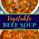 Vegetable beef soup pin